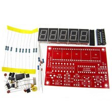 10 pçs/lote diy kits rf 1 hz-50 mhz oscilador de cristal medidor contador de freqüência digital led tester medidor
