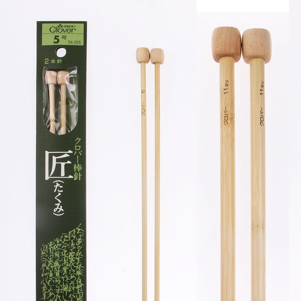 Aguja de bambú para tejer trébol japonés suéter aguja de tejer Longitud 30-40cm para hecho a mano 1 orden = 1 par