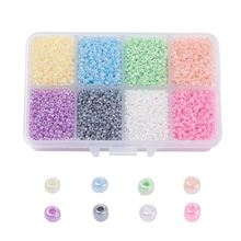 1 box 2 millimetri 3 millimetri 4 millimetri di Vetro Pearl Repubblica Seed Beads Allentati Rotondi Del Distanziatore Borda il Colore Misto Per FAI DA TE Accessori Dei Monili Che Trovano Fare