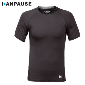 New Arrival KANPAUSE Men's breathable Tights  T-shirts Short Sleeve Training T-shirt Fitness Sportswear