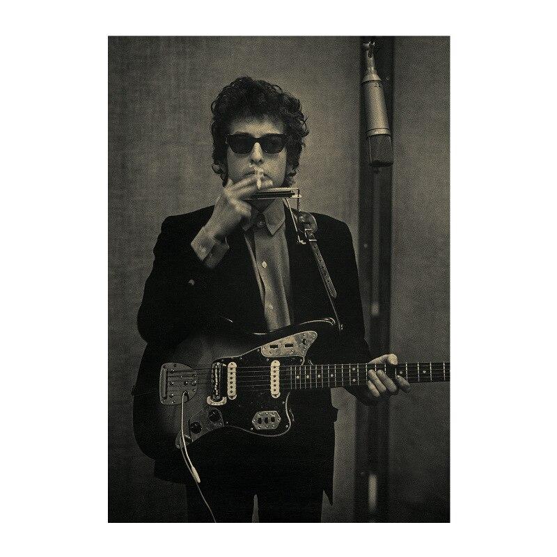 Bob /USA Ballad artist star Rock music /kraft paper/bar poster/Wall stickers /Retro Poster/decorative painting 51x35.5cm