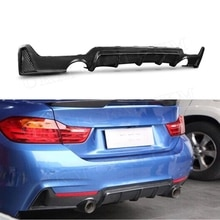 Série 4 pare-chocs arrière en Fiber de carbone diffuseur de lèvre de Spoiler pour BMW F32 F33 F36 420i 428i 435i 2014 2015 2016 2017