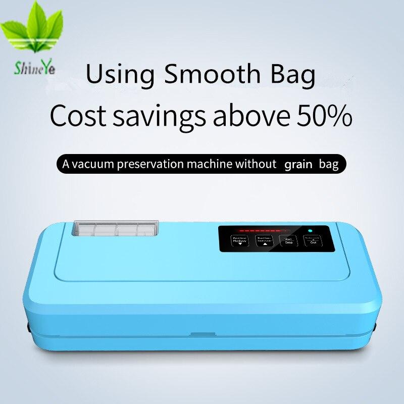 Shineye novo 2018 máquina de embalagem do aferidor do vácuo do agregado familiar 110-220 v empacotador do vácuo incluem sacos de vácuo presente pode manter o alimento fresco