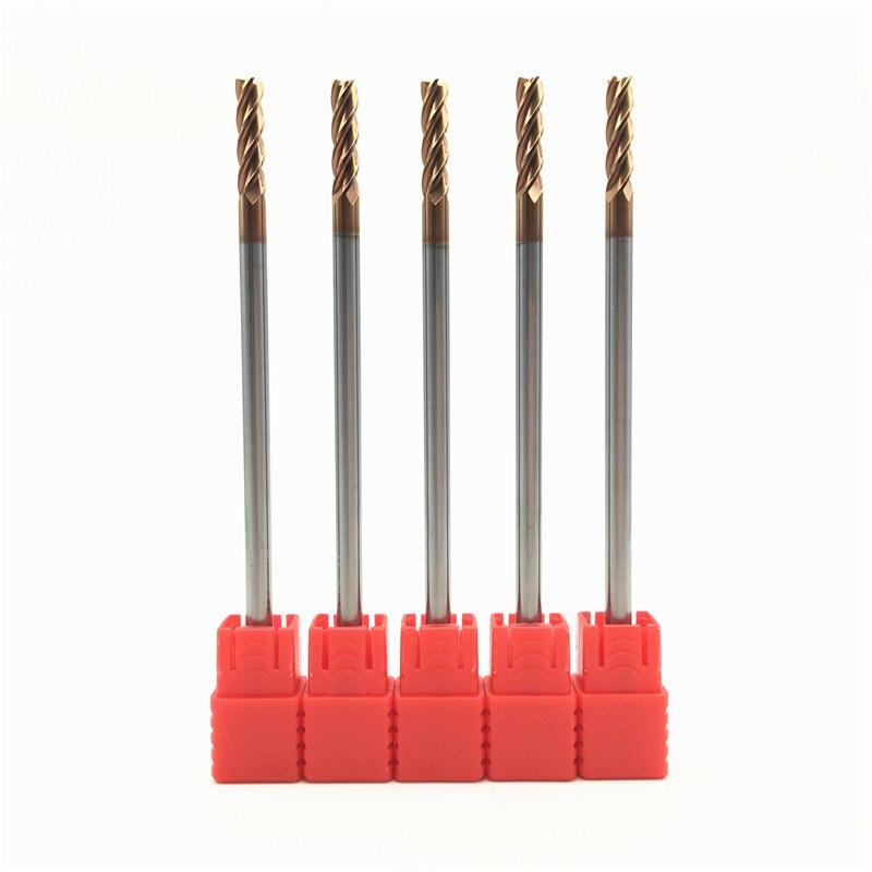 5 шт. HRC60 4 мм твердосплавные фрезы D4X20XD4X100L 4 Флейта стандартная длина боковая фреза профилирующая фреза