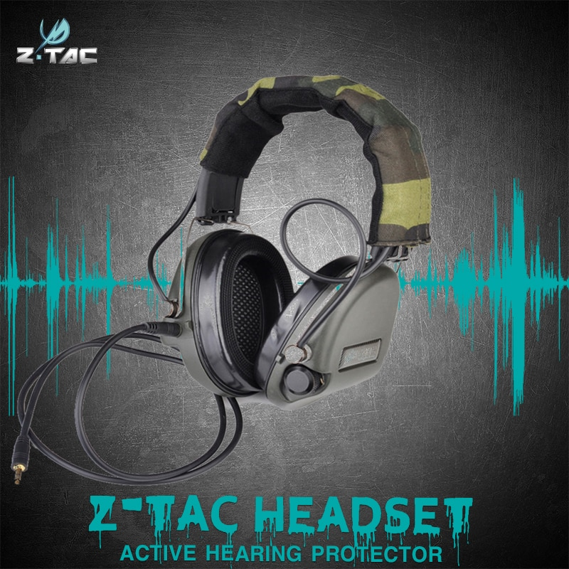 Element Z-Tactical  Z037 Sordin Ver Leather Headband Style Get Rid 3.5 Mm Shooting Range Protection Hearing Headset