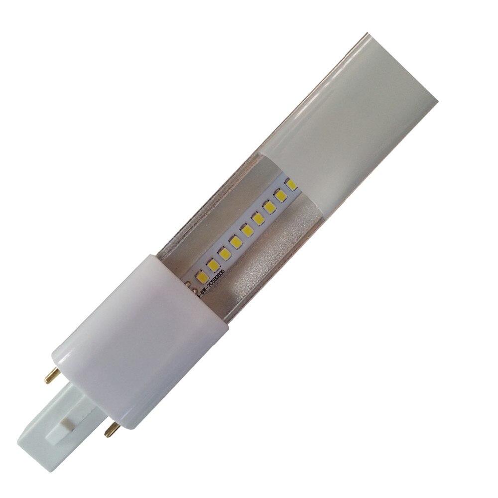 DHL envío gratis 50 Uds G23 lámpara led delgada 4W G23 led PL brillo 420LM G23 bombilla led reemplazar CFL luz envío gratis
