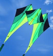 Freies verschiffen hohe qualität neue design 3d nylon kite erwachsene kite fliegen spielzeug mit kite reel linie freies wei kite freies verschiffen