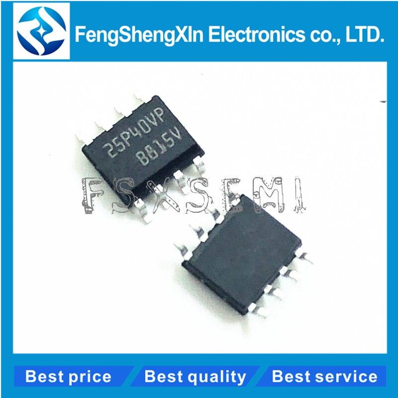 10 unids/lote 25P40 25P40VP M25P40VP M25P40-VMN6TP SOP-8 4 Mbit, baja tensión, Memoria Flash Serial con interfaz de Bus SPI de 40MHz