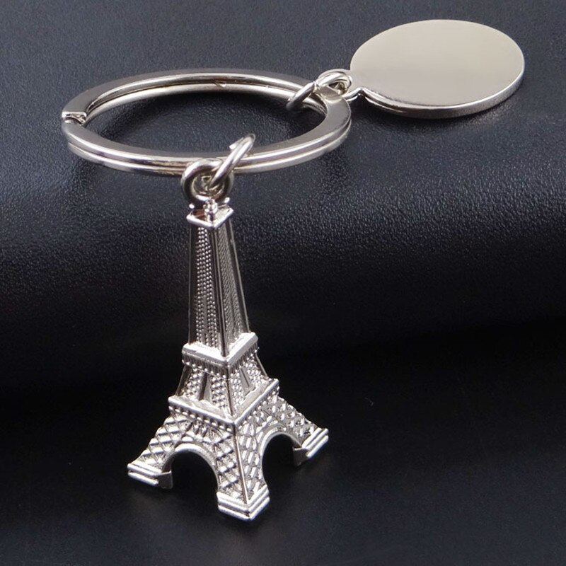 50pcs/lot Creative Retro France Paris Eiffel Tower Model Cute Mini Keychain Keyring Keyfob Love Gift , Free Shipping
