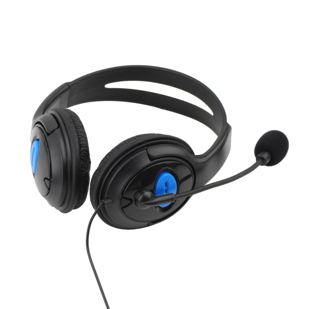 Auriculares con cable para juegos con micrófono, micrófono estéreo, cena de graves para Sony PS4 PlayStation 4, auriculares para jugadores, comunicación