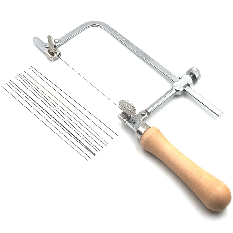 Mango de madera de arco de sierra ajustable profesional de joyería, marco de sierra, herramientas de mano, marco de sierra de joyería
