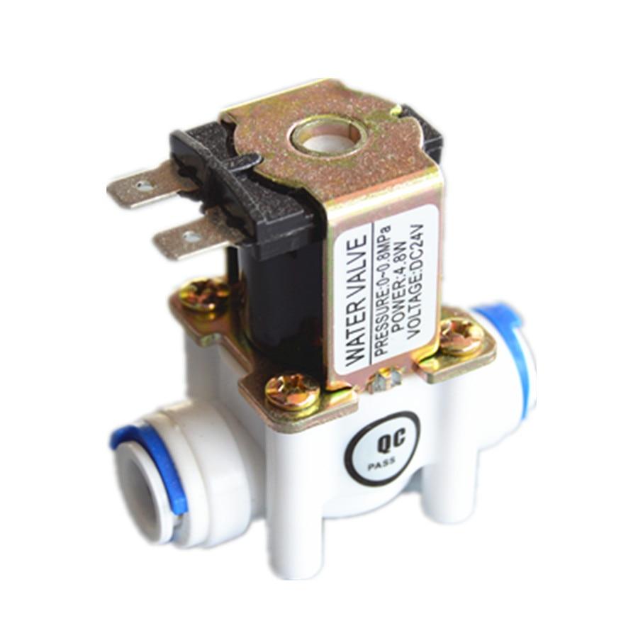"""Бесплатная доставка 24Vdc новый пластиковый Соленоидный клапан водяной клапан нормально закрытый 3/8 """"ID9.5mm RO части водоочистителя"""