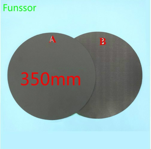 Round  Magnetic Print Bed Tape 350mm Print Sticker Build Plate Tape Flex Plate Update for tevo little monster 3D Printer