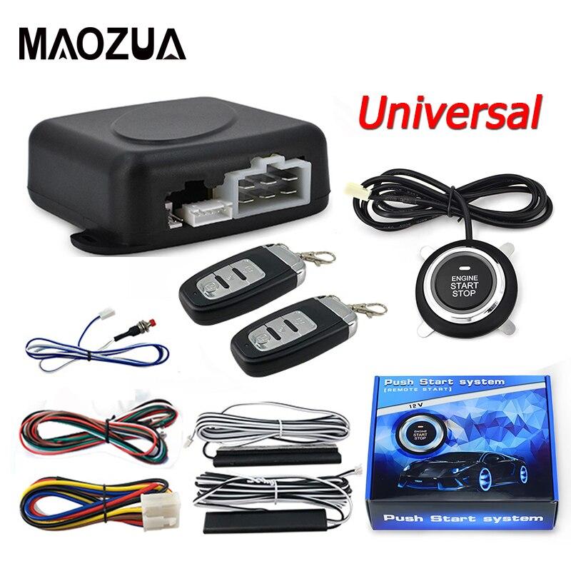 Universal 12V Car Engine Ignition Start Stop Button System Starline Auto Car Alarm Remote Starter SUV Keyless Entry System
