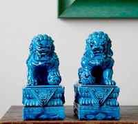One Pair Ceramic Procelain Foo Dog Foo Lion