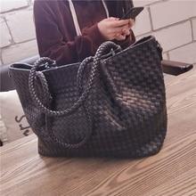 BENVICHED Ladies pu Woven bag 2020 new spring Tote Bag fashion High-capacity handbag women Inclined single shoulder bag c422