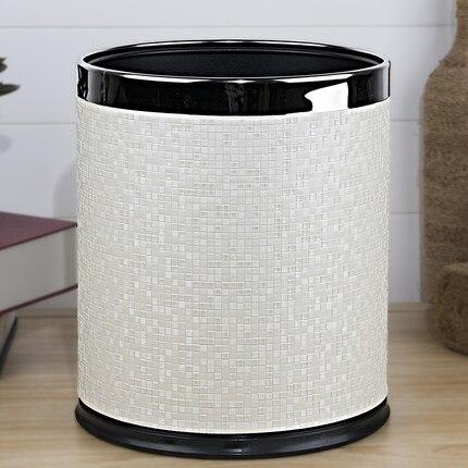 European luxuriou rubbish bins kitchen waste basket  layer trash bin metal kitchen trash can for home decoration PLJT14 enlarge