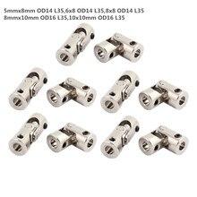 Raccords de cardan en métal 5/6/8/10mm   Connecteurs universels de joint, (spécifications en option) pour voiture/navire 1 pièce avec vis