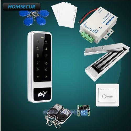 HOMSECUR Waterproof Door Lock 125Khz RFID Access Control System With 180KG Magnetic Lock