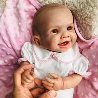 new 50cm body silicone vinyl reborn baby doll toy for girl boys newborn dolls 100 non toxic boutique bebes reborn doll gift toy