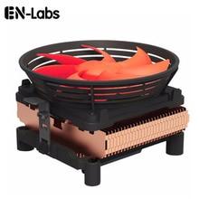 Refroidisseur de processeur silencieux en-labs avec ventilateur PWM 4pin 100mm pour Intel LGA775/LGA1155/LGA1156, prise AMD 754/939/AM2/AM2 +/AM3/FM1/FM2