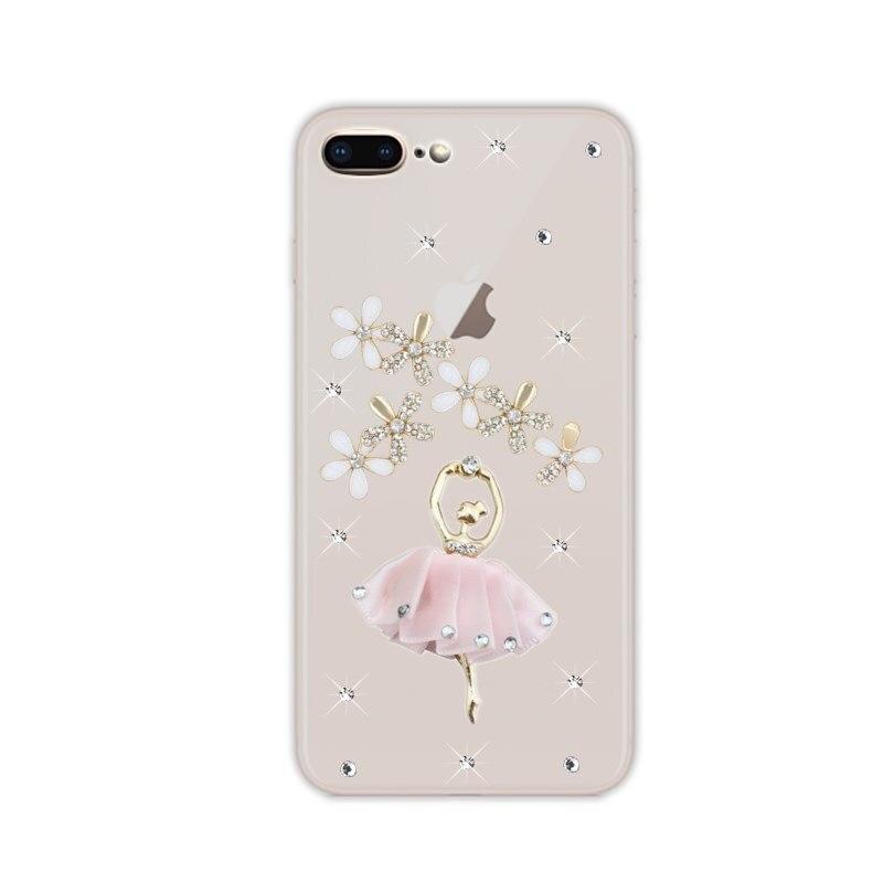 Carcasa para iPhone 6, 7, 8 Plus, 5, se, 2020, diamante para iPhone 11 Pro, X, XS, Max, XR, carcasa brillante con diamantes de imitación, Love, pavo real, funda transparente
