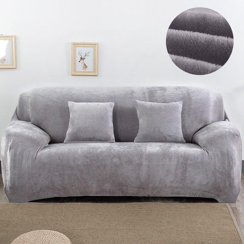 Funda de sofá de felpa de 1/2/3/4 plazas, funda gruesa para sofá, fundas elásticas baratas para sofá, cubierta para toalla