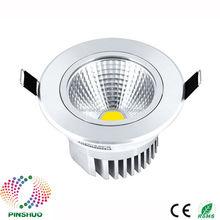 (10 pièces/lot) garantie 3 ans boîtier épais Dimmable LED vers le bas lumière COB LED Downlight 5W encastré plafond spot ampoule
