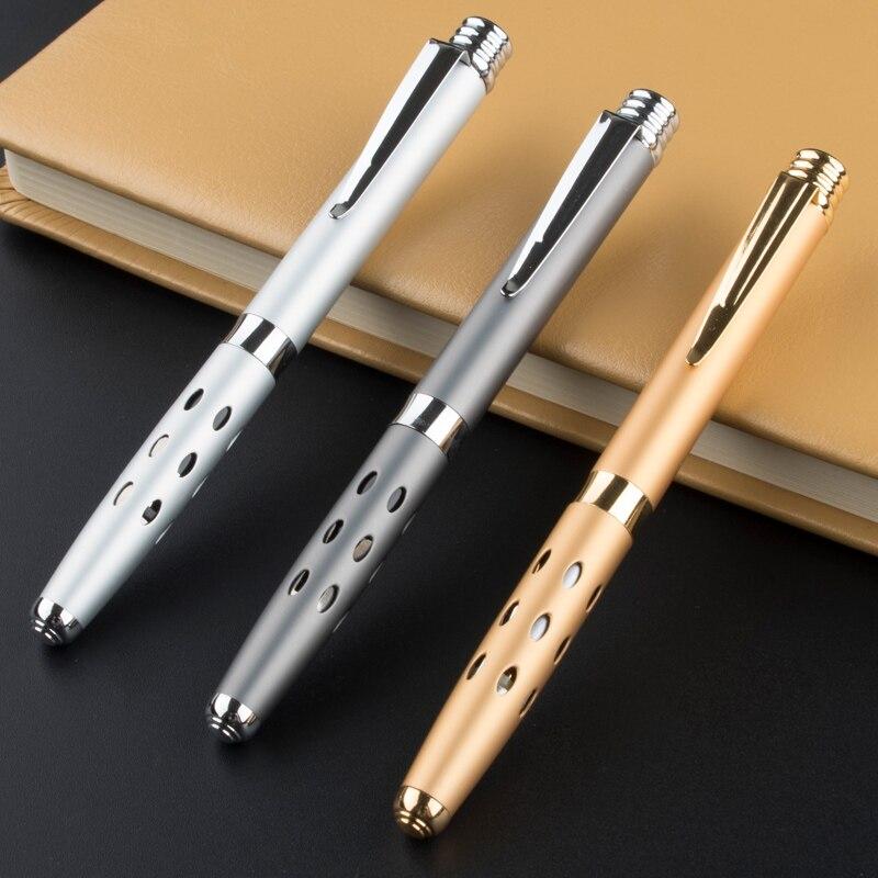 Школьная Роскошная металлическая шариковая ручка, Высококачественная ручка для бизнеса и офиса, подарок для письма, роликовая ручка