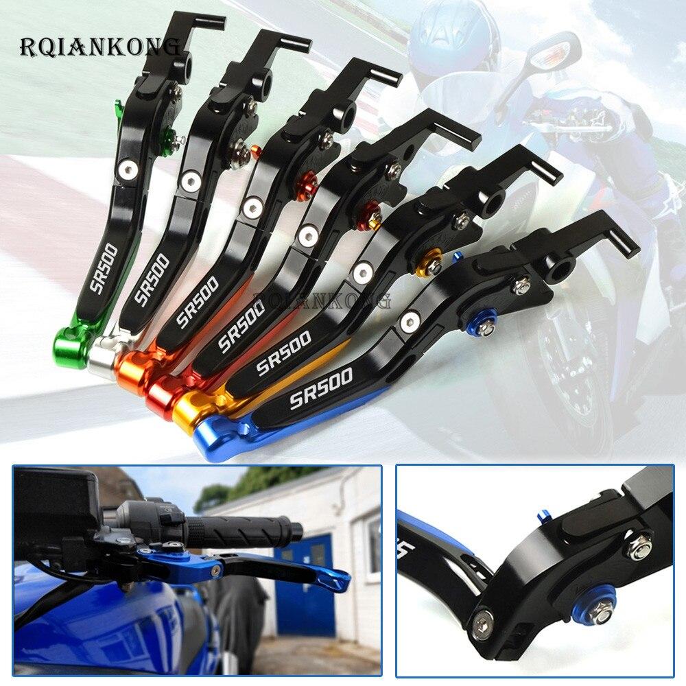 Para Yamaha SR500 SR 500 1978-1991 1979 accesorios de motocicleta CNC palancas de embrague de freno de motocicleta ajustable plegable extensible