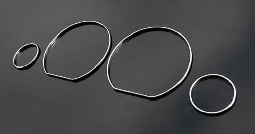 Cromo velocímetro calibre dial anéis moldura/guarnição para vw golf 3 mk3 vento polo mk4 4-6n