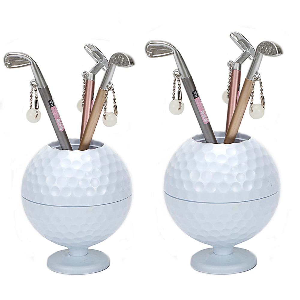 Practical Mini Superior Golf Club Models Ball Pen + holder Set Accessories free shipping