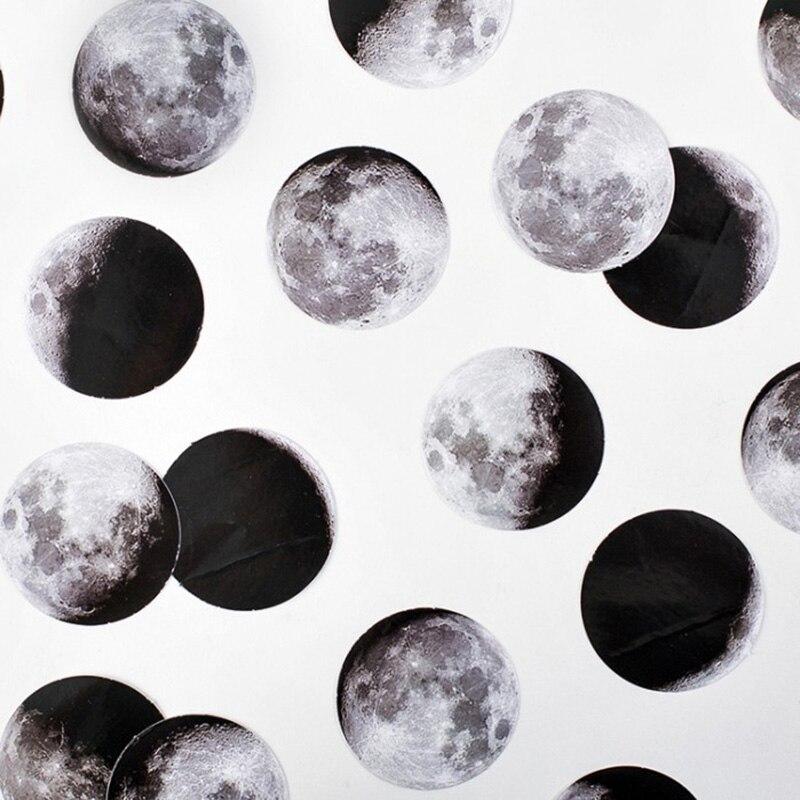 45 unids/caja pegatinas de papelería Vaporwave DIY Planet Sticky papel Kawaii Luna plantas pegatinas para decoración álbum de recortes diario