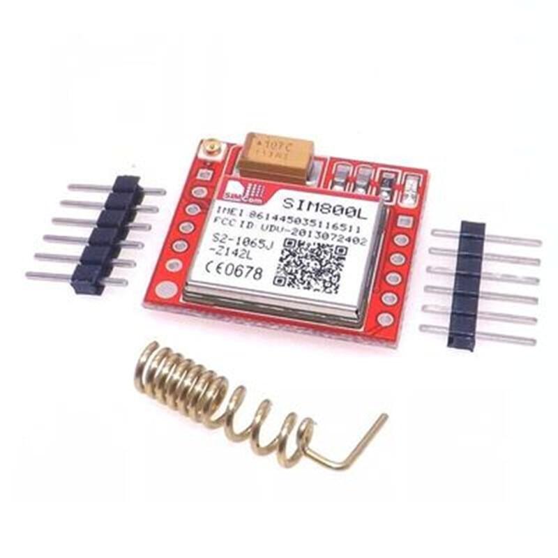 10 قطعة/الوحدة أصغر SIM800L جي بي آر إس GSM وحدة MicroSIM بطاقة مجلس الأساسية رباعية الموجات TTL المنفذ التسلسلي