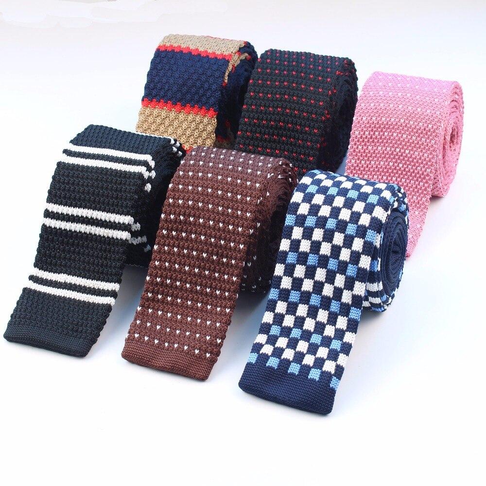 Corbata de punto informal para hombre, corbatas de punto ceñidas, corbatas de punto finas, corbatas clásicas, cinta de tejer, diseñadores de hilo