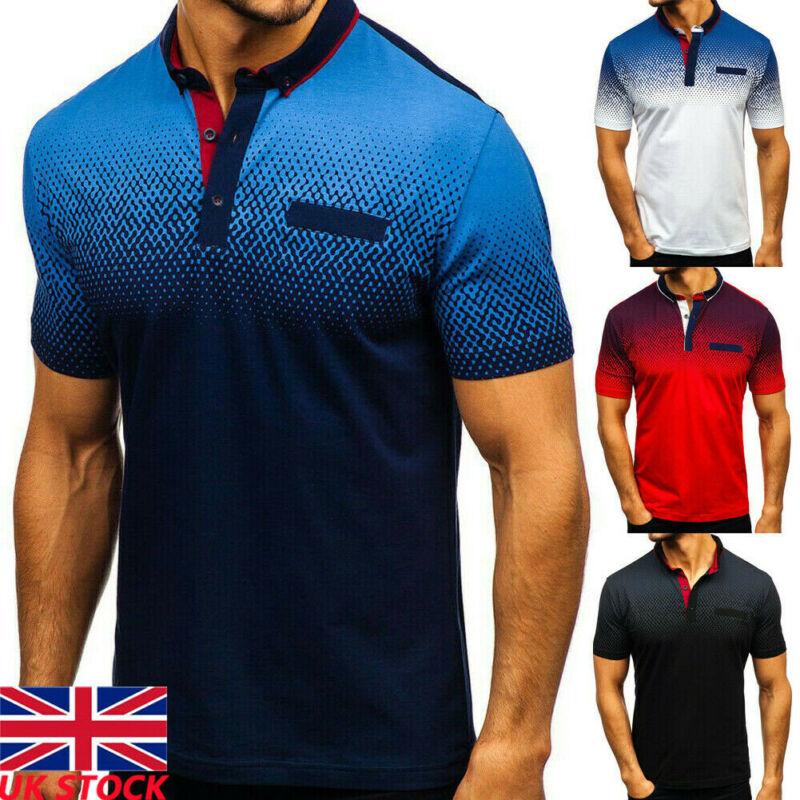 Мужская спортивная быстросохнущая футболка с короткими рукавами, градиентная футболка, топы для мужчин, приталенная быстросохнущая теннис...