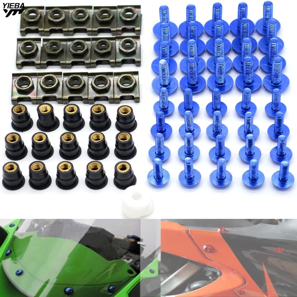 Tornillo de carenado para motocicleta Unicersal, tornillo del parabrisas para Suzuki TL1000R SV1000 S TL1000R GSX1250F SA BMW F800GS F800R F800S