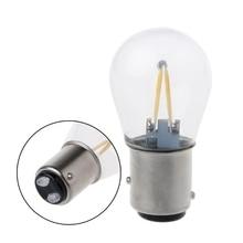 1 pièce Double filament 1157 Bay15d Led blanc DRL diurne feu arrière ampoule lampe 6000k 2018