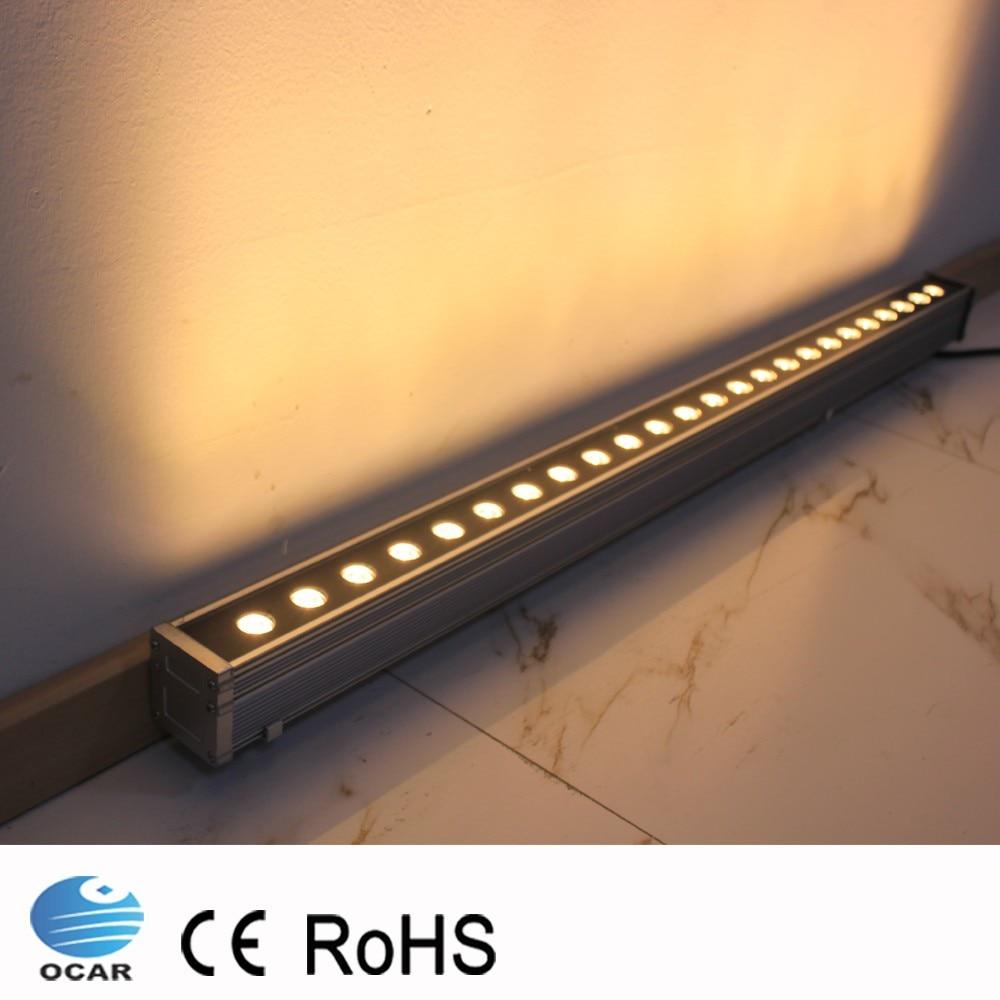 Lámpara LED de pared WASH de 0,3 M y 6W CA 85V-265V 12V 24V, luces para exteriores, lámpara lineal de pared, reflector de 30cm