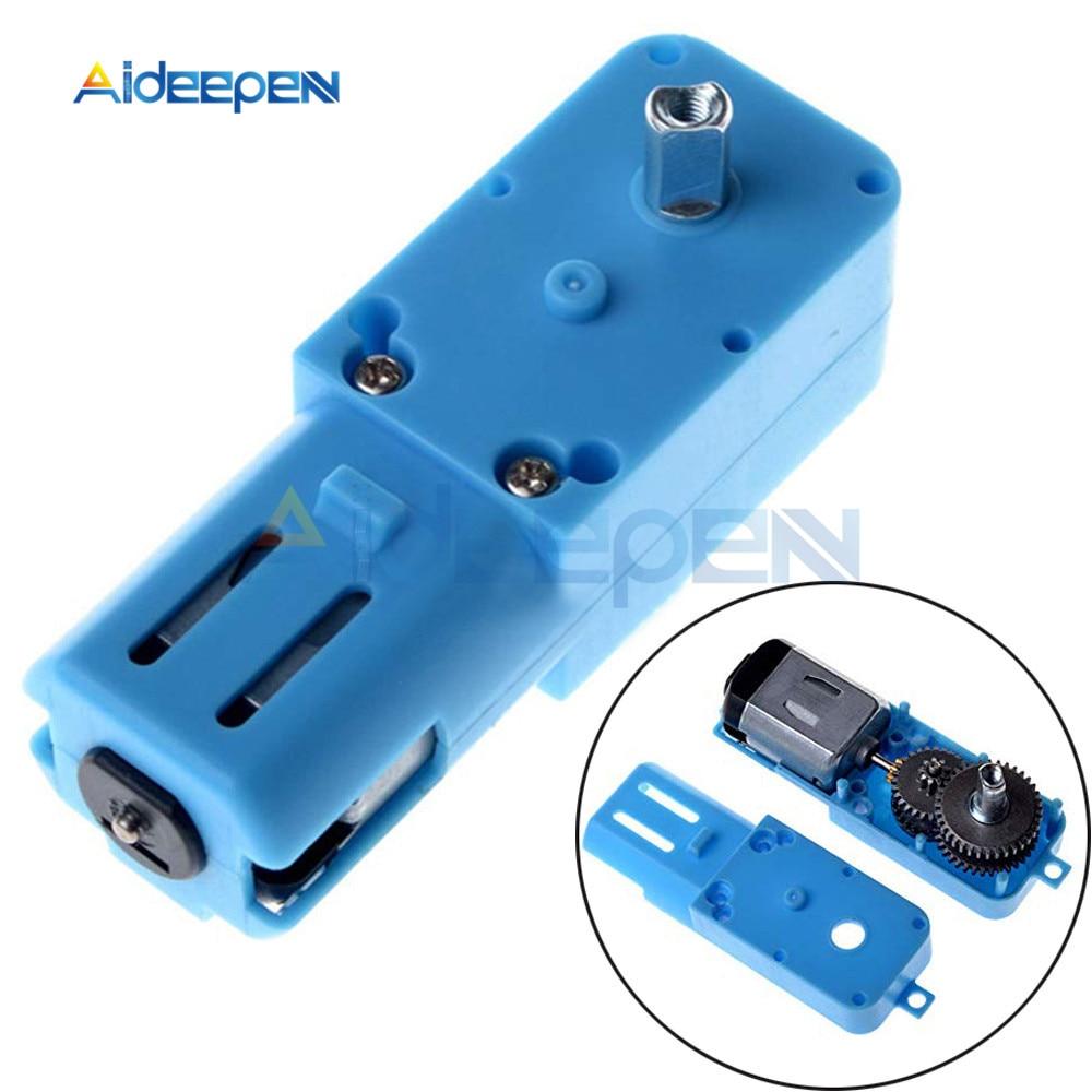 1:90 3V-6V Metal gear robot intelligent vehicle speed reducer TT motor single shaft finished product Blue shell Superior quality