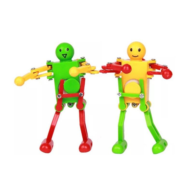 Новые Классические игрушки, детские пластиковые заводные весенние игрушки для танцев, игрушки-роботы, подарки FJ88