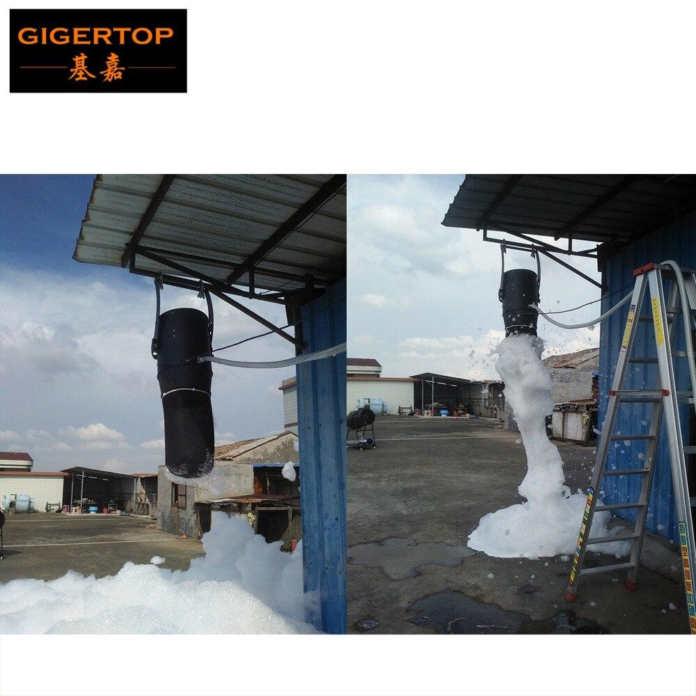 Tiptop 1200 w fase luz pendurar espuma máquina de controle mão alta potência bolha jet flight caso embalagem festa espuma máquina 90 v-240 v