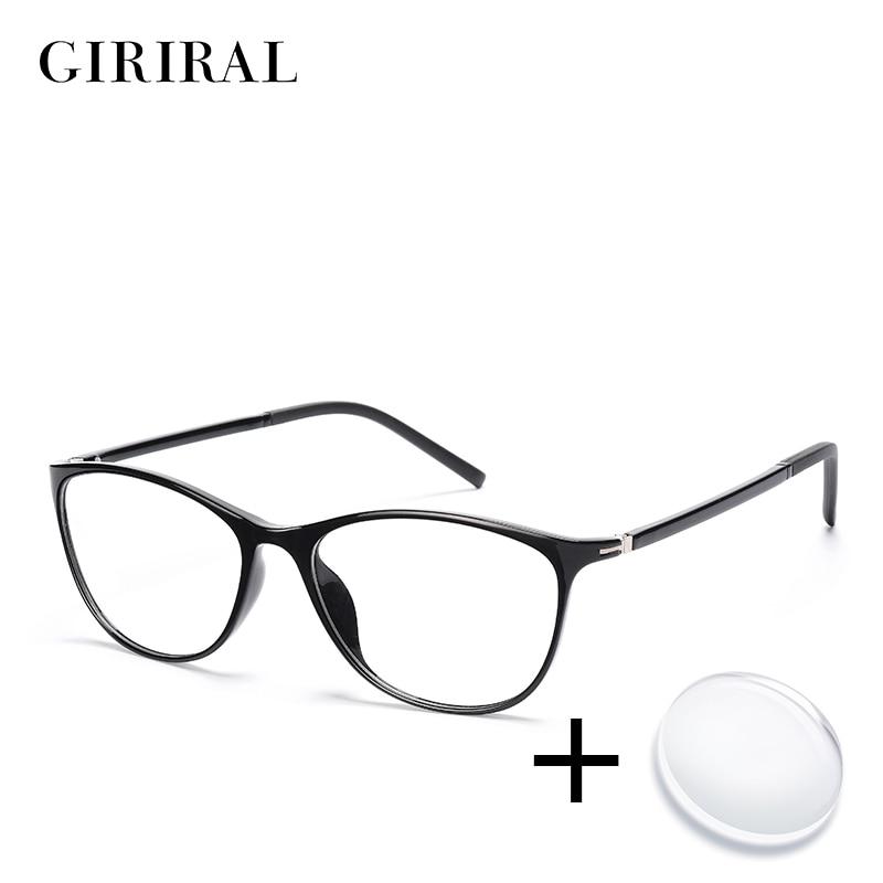 TR90 women prescription glasses retro colored clear computer reading optical transparent sight myopi