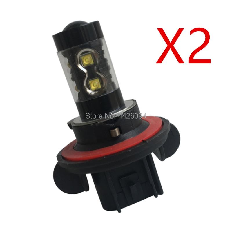 2 pces led farol lâmpada h13 9008 12 v 55 w 4300 k lâmpada de nevoeiro led 63217190591 63121468226 l0000h13 5c3z-13n021-aa