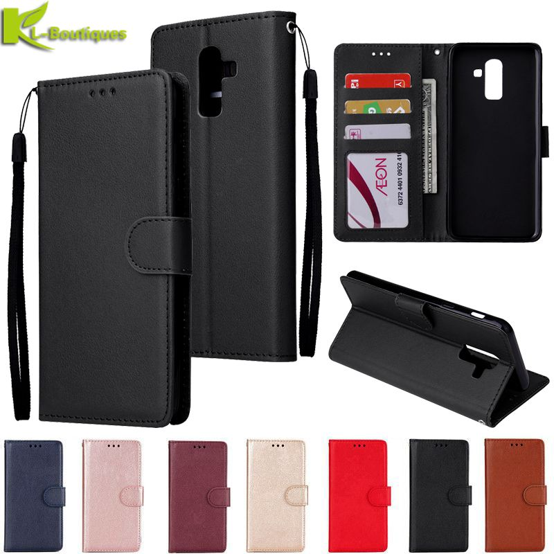 for Samsung Galaxy J8 2018 Leather Case on for Samsung J 8 J8 2018 J810F Cover Classic Style Flip Wa