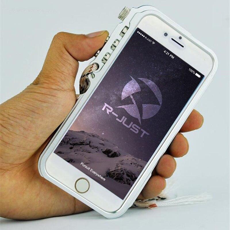 R-Just For iphone 6 Case iphone 6s Case Super Mechanical Arm Aluminium Bumper Case Metal Frame Cover For iphone 6 plus 6s plus