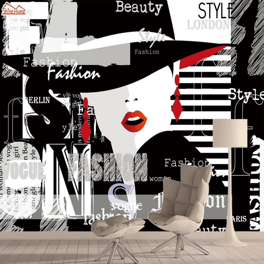 Papel tapiz Mural 3d para pared de salón, papeles de papel para decoración del hogar, elegante chica, fondo, paredes, murales, Peel and Stick