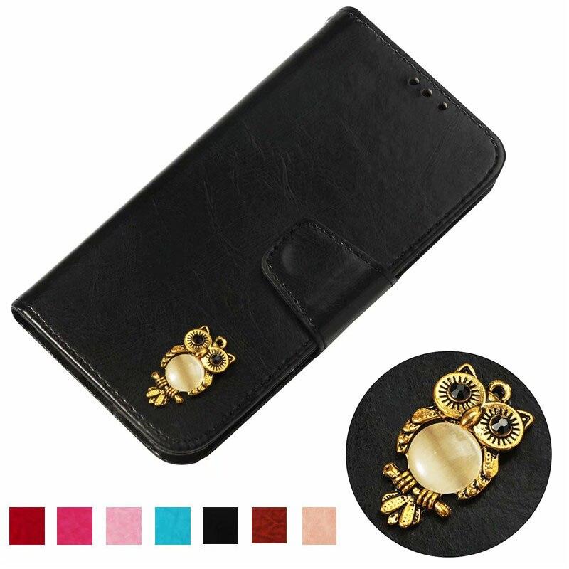 For ZTE Sequoia/ZTE Blade Z MAX/ZTE Zmax Pro 2 Z982 Z981 Case Luxury owl PU Leather Back Case Flip Phone Cover Bag Skin
