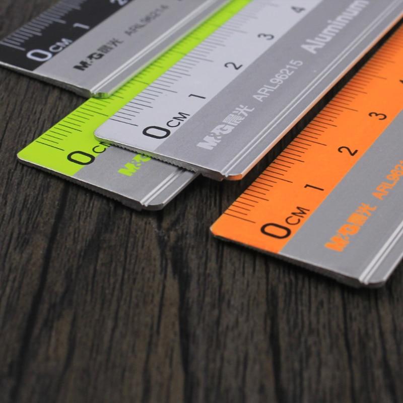 Линейка для измерения офисных принадлежностей, линейка из алюминиевого сплава для резки стали 15/20/30 см