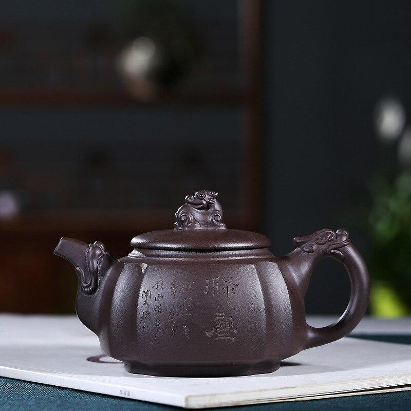 Yixing-مجموعة مشروب من الطين الأرجواني أو الشاي ، منتج عالي الجودة يدويًا موصى به للشاي